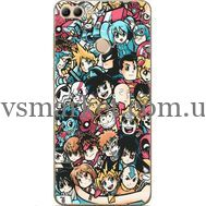 Силиконовый чехол BoxFace Huawei Y9 2018 Anime Stickers (33895-up2458)